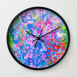 All The Colors in My Garden Wall Clock