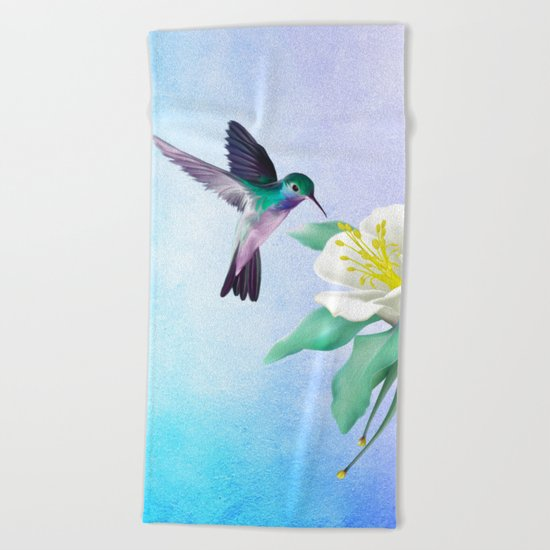 hummingbird. Beach Towel
