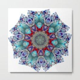 Vibrant and Colorful Mandala Kaleidoscope Digital Art Metal Print