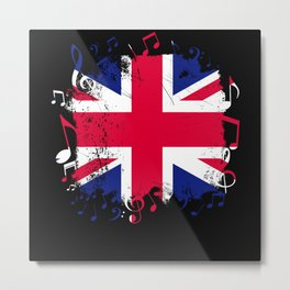 Great Britain Music Flag Metal Print