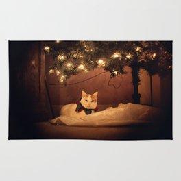 Christmas Kitty Cat Rug