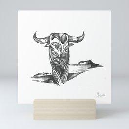 Taurus Surreal Sketch Mini Art Print