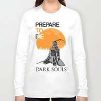 dark souls Long Sleeve T-shirts featuring Dark Souls by billydragon77