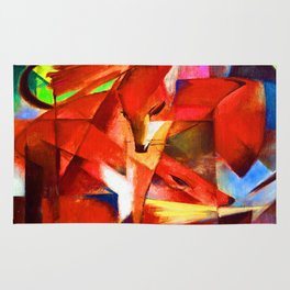 Franz Marc The Foxes Rug