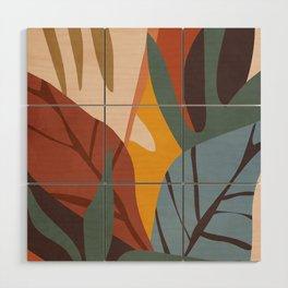 Abstract Art Jungle Wood Wall Art