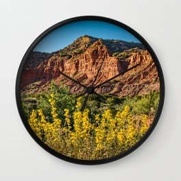 Caprock Canyons Wildflowers Wall Clock