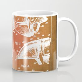 Football Shoulder Pads Patent Blueprint Drawing Sepia Coffee Mug