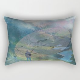 What is Reality? #2, Fun UFO image Rectangular Pillow