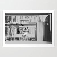 jane austen Art Prints featuring Jane Austen Library by KimberosePhotography