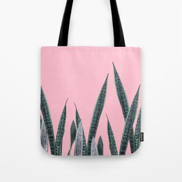 Snake plants in group Tote Bag