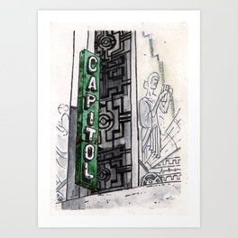 Philippines : Capitol Theater Art Print