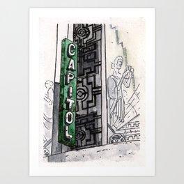 Philippines : Capitol Theater Art Print
