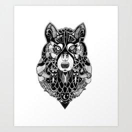 Ornate Wolf Art Print