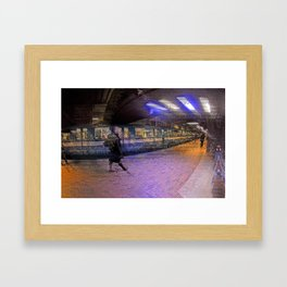 Montreal subwat Framed Art Print