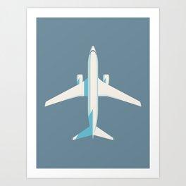 737 Passenger Jet Airliner Aircraft - Slate Art Print