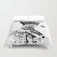 typo Duvet Covers featuring typo Ataturk by omerfarukciftci