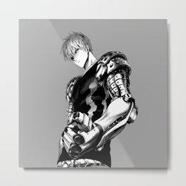 Genos Black and white Metal Print