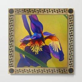 A Purple Iris Metal Print