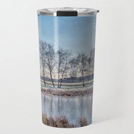 Winter landscape in Holand Travel Mug