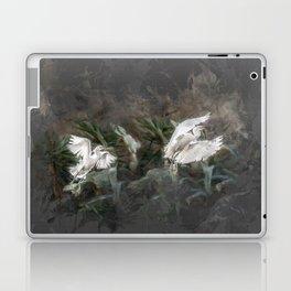 Little herons in flight Laptop & iPad Skin