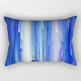 Frozen blue waterfall abstract digital painting Rectangular Pillow