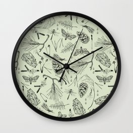 Green forest treasures. Wall Clock
