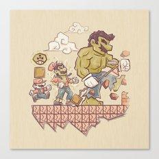Radioactive Mushroom Canvas Print