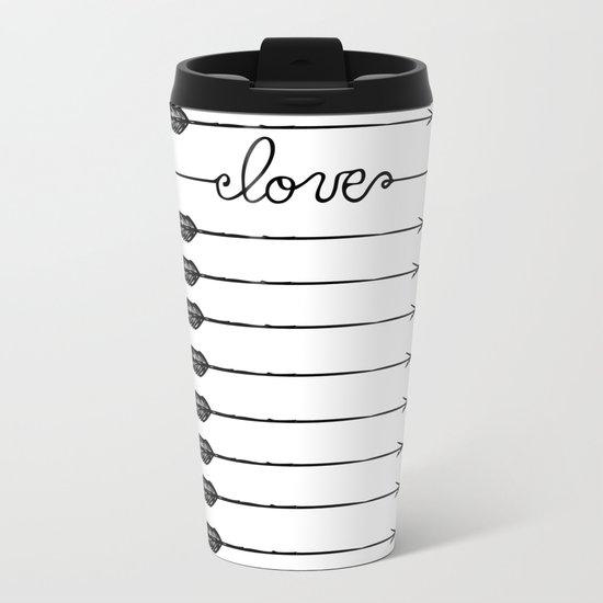 Love Arrows Metal Travel Mug