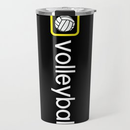 Volleyball (Yellow) Travel Mug