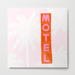 seaside motel Metal Print