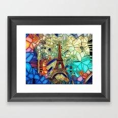Paris abstract Framed Art Print