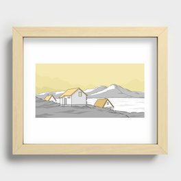 Houses in the cold Recessed Framed Print