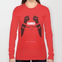 Django Unchained, Quentin Tarantino, minimalist movie poster, Leonardo DiCaprio, spaghetti western Long Sleeve T-shirt