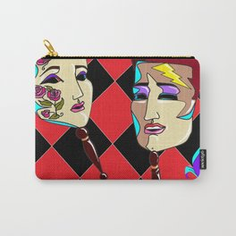 Two Masquerade Faces Carry-All Pouch