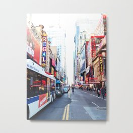 301. Colorful Time Square, New York Metal Print