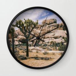 Joshua Tree National Park Scene Wall Clock