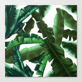 tropical banana leaves pattern 2 Canvas Print