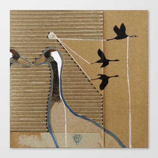 turnalar (cranes) Canvas Print