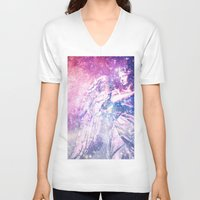 celestial V-neck T-shirts featuring Celestial Angel by 2sweet4words Designs