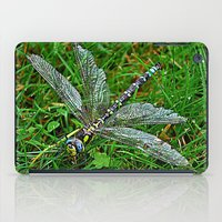 dragonfly iPad Cases featuring dragonfly by  Agostino Lo Coco