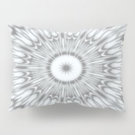 Gray Kaleidoscope Pillow Sham