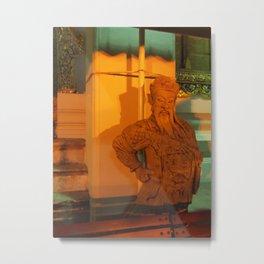 guard of light Statue Metal Print