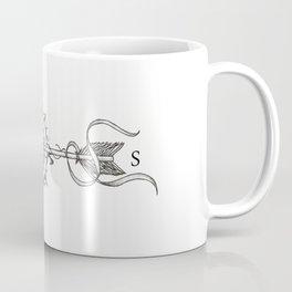 Compass with Arrow (Tattoo stule) Coffee Mug
