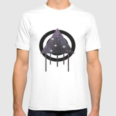 Dripping Space Mens Fitted Tee MEDIUM White