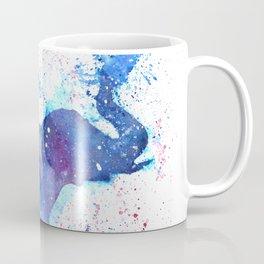 Silhouette Elephant Watercolor Coffee Mug