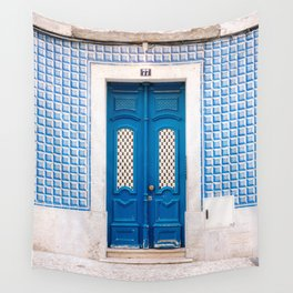 The blue door of Lisbon | Portugal fine art travel photography print Wall Tapestry