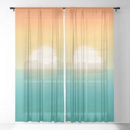 Into the horizon Sheer Curtain