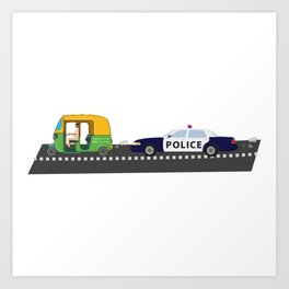 High Speed Chase Art Print