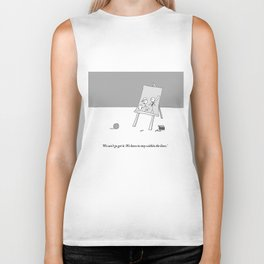 stay within the lines Biker Tank