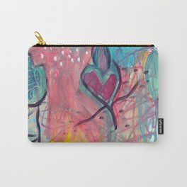 For the Love and Flaming Heart Carry-All Pouch